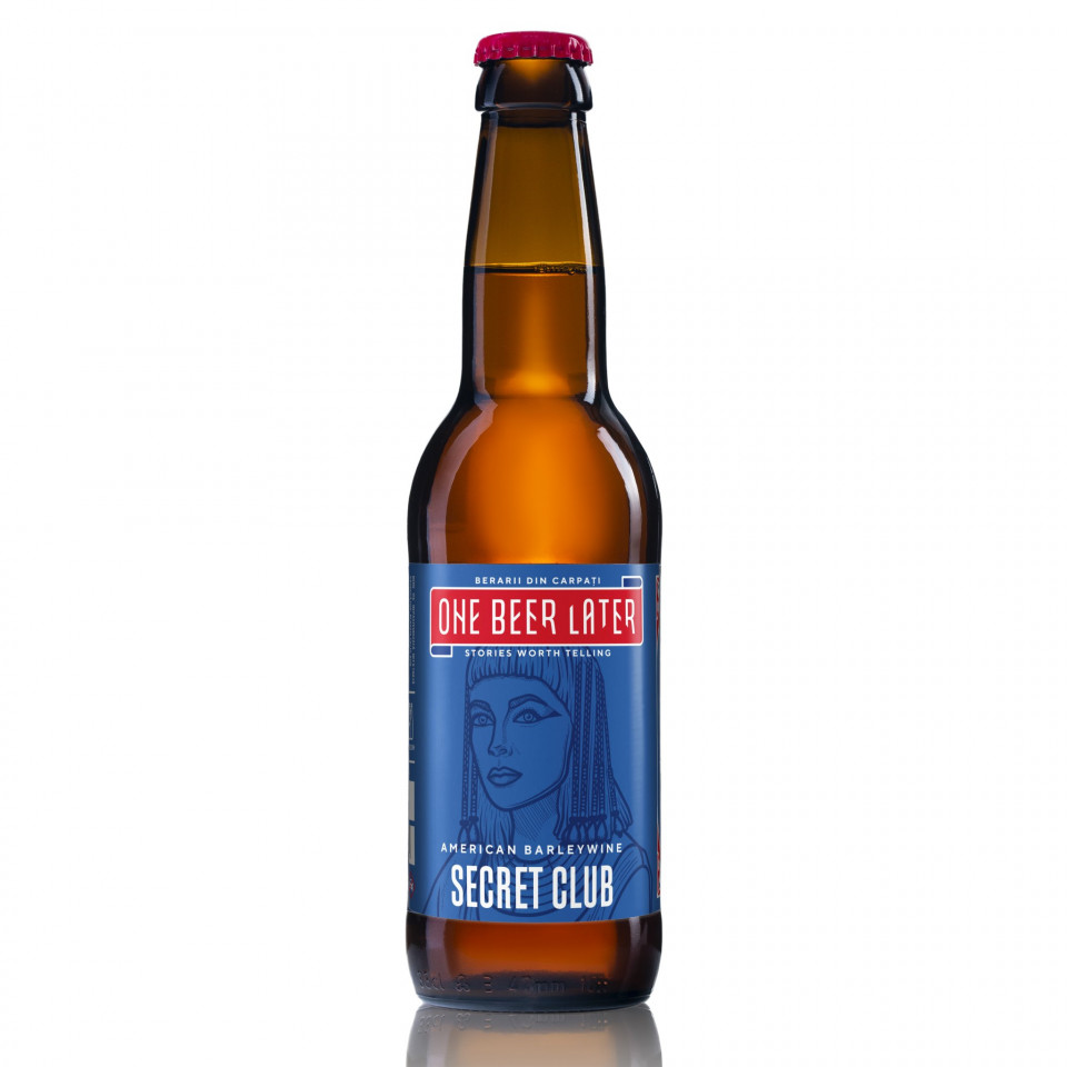 One Beer Later-Secret Club- Barrel aged -Barley Wine - Bourbon barrel